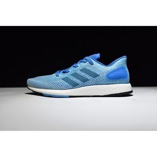 Adidas pure boost2.0 primeknit 2.0 針織系列 休閒百搭慢跑鞋 男鞋 天藍 S82100