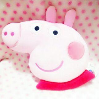 ★娃娃兵★正版Peppa Pig佩佩豬粉紅豬小妹抱枕枕頭腰枕靠枕午安枕午睡枕中娃娃玩偶