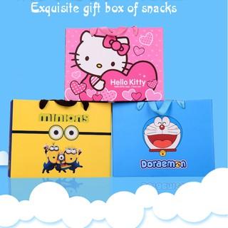 ☀佳晨烘焙坊☀KT貓 多啦A夢 小小兵  佩佩豬 抽屜禮盒  點心盒 零食盒