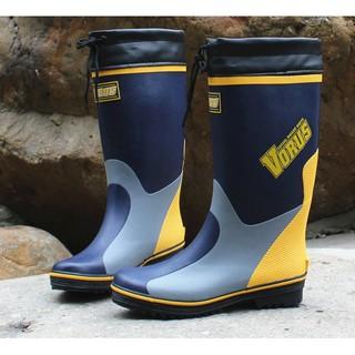 出口日本!!雨鞋男防滑膠鞋男款高筒雨靴防水鞋套鞋工作鞋橡膠輕便男雨鞋  免運費