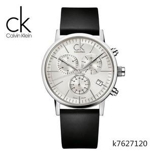 男錶CK手錶代購三眼六針日曆多功能皮帶上午休閒男士腕錶K7627120