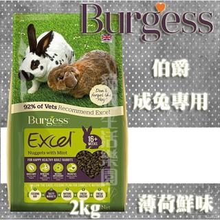 伯爵 Burgess Excel 成兔專用飼料-薄荷鮮味 2KG