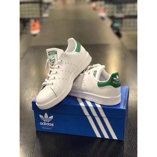 Adidas Originals Stan Smith史密斯白色潑漆綠尾