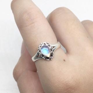 客訂黑星石&月光石戒指