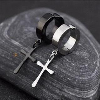 夾式耳環 十字架耳環