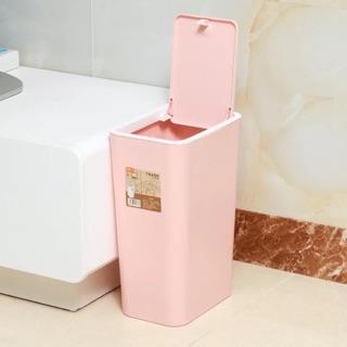 大容量約長方形按壓式垃圾桶2L共2色《買再送備用卡扣&垃圾袋》