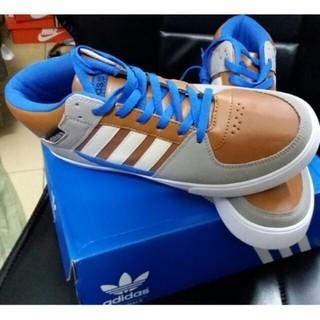 Adidas 愛迪達 男鞋 男款時尚中幫運動鞋 Adidas板鞋 滑板鞋