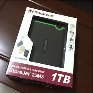 全新 Transcend 創見 StoreJet 25M3 1TB 2.5吋行動硬碟 TS1TSJ25M3