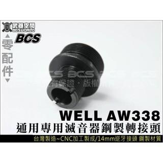 WELL VSR10 MB03.07.10.12通用鋼製滅音器轉接頭
