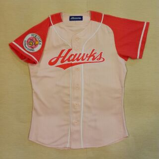 NPB 日本職棒 軟體銀行 福岡軟銀鷹 女性球迷專屬 棒球球衣 MIZUNO美津濃製 電繡 與球員版相同的高級輕量化材質