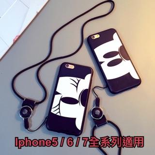 韓國流行Iphone5/6/6+/7/7+系列 米奇睜眼&米妮眨眼 手機殼 保護殼 眼睛圖案 高質感 軟殼 全機保護