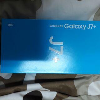 全新 Samsung 三星 j7 plus 金 空機
