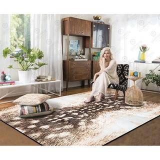 時尚個性獸紋斑馬紋家用客廳地毯歐式潮流茶幾墊臥室床邊毯地墊