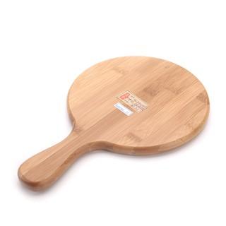 金新 料理用具無漆砧板竹披薩板披薩盤木托盤面包板8 9 10 11寸