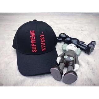 Supreme x stussy 聯名款 鴨舌帽 帽子 3D立體刺繡印 男女款 街頭 潮流 穿搭 歐美