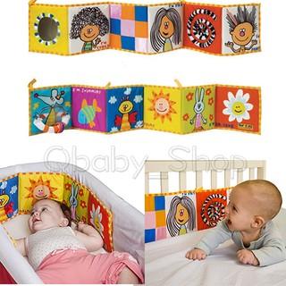 ☆Qbaby_Shop☆現貨 以色列品牌taf toys嬰兒雙面彩色床圍布書床圍掛飾色彩認知布書