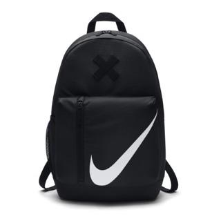 Nike 黑底白勾後背包送筆袋