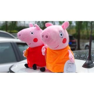 汽車飾品 車外部 車尾車頂 小豬佩奇 佩佩豬 玩偶 裝飾 喬治 公仔 搞笑 汽車裝飾 汽車玩偶 汽車外部娃娃 玩偶