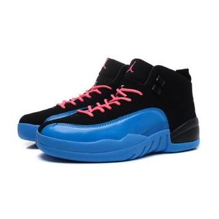 Nike Air Jordan 12 喬丹12代 AJ12 喬丹籃球鞋 黑藍粉 女生款