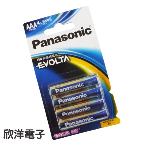 Panasonic國際牌 EVOLTA AAA 鹼性4號電池 1.5V (4入)