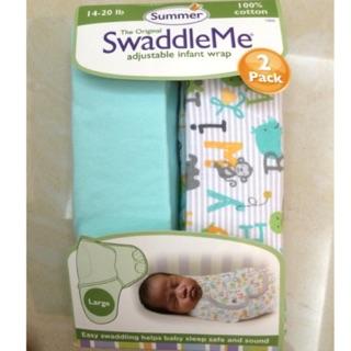 美國 Summer infant SwaddleMe 包巾 純棉薄款 stage2 L號
