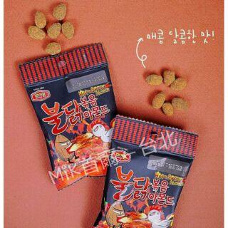 【MiK首爾←台北】現貨韓國 辣雞 杏仁果 30g 輕巧小包裝 隨身包