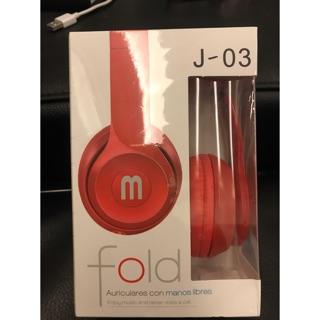 Fold 線機分離耳機-紅