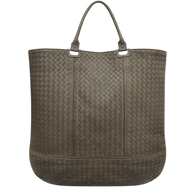 【馬貝爾美國精品百貨】BOTTEGA VENETA 橄欖綠色編織小羊皮托特包-大型