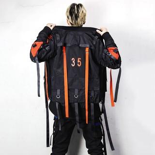 現貨追程17FW機能風外套多口袋織帶夾克潮男MA-1飛行夾克男棒球服C70正韓