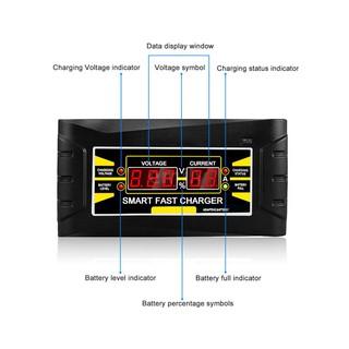 全自動汽車電池充電器150V -250V到12V 6A智能快速電源充電器Model: SON-1206D+ 美規