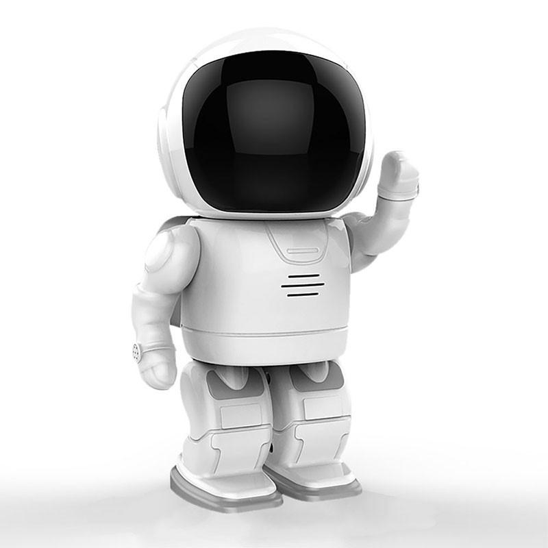 【現貨】機器人造型紅外線夜視版 循環錄影 攝影機 雙向對講 WIFI 監視器 APP操控 網路監控♛生活居家小舖♛