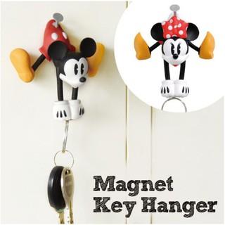 日本 迪士尼 DISNEY 米奇 米妮 磁鐵鑰匙掛勾