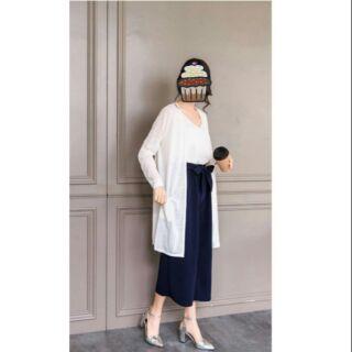 長版 罩衫 防曬外套 白色