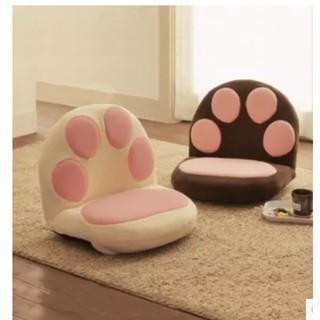 榻榻米卡通可愛貓爪沙發懶人沙發單人兒童日式卡通床上哺乳餵奶椅
