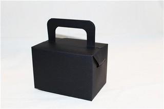 手提紙盒(黑色)_附內襯_3-2916000◎手提.紙盒.手提盒.黑色.內襯.增高墊.蛋糕.甜點.點心.包裝