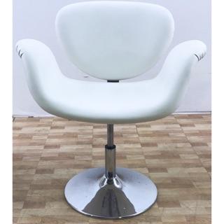 白色吧台皮椅 酒吧椅 櫃檯椅 高腳椅 諮詢椅 美甲椅 單人椅 皮椅 二手吧台椅 二手椅子 白色皮椅