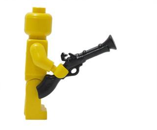 BrickWarriors ─  舊式散彈槍  ─黑色 第三方武器配件 樂高LEGO 人偶專用