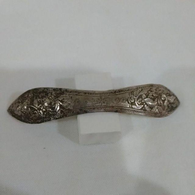 銀器飾品 ~ 老銀髮簪 扁方 (5)