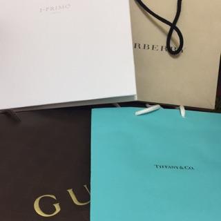 紙袋 Tiffany/Burberry/Gucci/I-Primo/Jo Malone