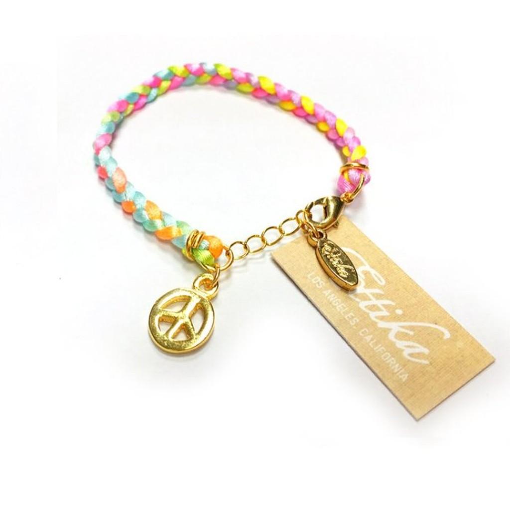 Ettika 台北ShopSmart直營店 美國品牌 愛和平 嫩粉色系 幸運編織手鍊 可調式手圍