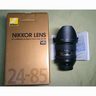 Nikon AF-S 24-85mm f3.5-4.5G ED VR 公司貨用幾次相良好單齊全贈保護鏡)