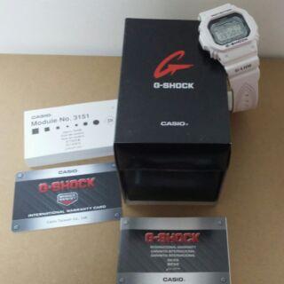 CASIO G-SHOCK 活力極限衝浪潮汐月相概念錶-白-GLX-5600