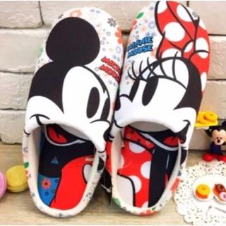 日貨 迪士尼 維尼 奇奇蒂蒂  米奇米妮  唐老鴨 室內絨布拖鞋