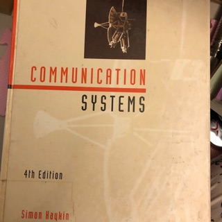Communication systems by Simon Haykin