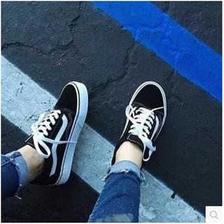 ulzzang 黑白條原宿風權志龍板鞋復古休閒低幫學生帆布男女鞋滑板