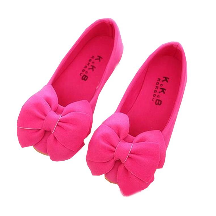 中小大童 韓版 兒童 女童 蝴蝶結 公主鞋 娃娃鞋 單鞋 桃紅色