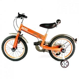 英國Mini Cooper 兒童腳踏車16吋- 競速橘
