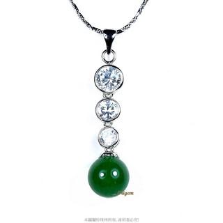 珍珠林~真心唯一~10MM單顆翠玉墬~典雅精緻~%23051