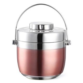 hii手提不銹鋼保溫提鍋飯盒雙層便當盒 創意日式分格學生2層保溫桶湯