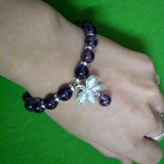 紫水晶 蝴蝶節手珠